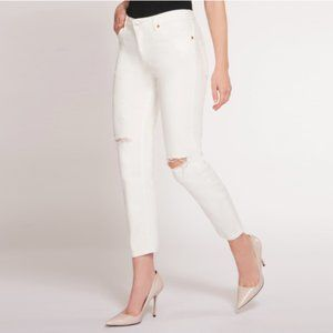 Dex Nixon Boyfriend Jeans White 28 NEW